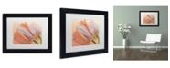 "Trademark Global Cora Niele 'Two Orange Tulips' Matted Framed Art - 11"" x 14"" x 0.5"""