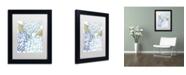 "Trademark Global Color Bakery 'Sea Dahlias I' Matted Framed Art - 11"" x 14"" x 0.5"""