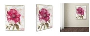 "Trademark Global Color Bakery 'Pink Peony' Canvas Art - 24"" x 2"" x 32"""