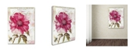 """Trademark Global Color Bakery 'Lepink With Bee' Canvas Art - 24"""" x 2"""" x 32"""""""