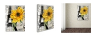 "Trademark Global Color Bakery 'Paris Blanc' Canvas Art - 24"" x 2"" x 32"""