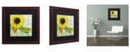 "Trademark Global Color Bakery 'Soleil III' Matted Framed Art - 16"" x 0.5"" x 16"""