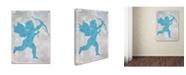 "Trademark Global Cora Niele 'Cupid Blue' Canvas Art - 24"" x 18"" x 2"""