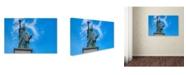 "Trademark Global Cora Niele 'Statue Of Liberty Paris I' Canvas Art - 24"" x 16"" x 2"""