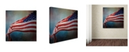 "Trademark Global Jai Johnson 'American Flag' Canvas Art - 24"" x 24"" x 2"""