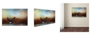 "Trademark Global Jai Johnson 'Eagle Hunting In The Marsh' Canvas Art - 47"" x 30"" x 2"""