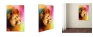 "Trademark Global Jai Johnson 'Colorful Expressions Lion' Canvas Art - 47"" x 30"" x 2"""