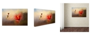 "Trademark Global Jai Johnson 'Romancing The Hibiscus' Canvas Art - 24"" x 16"" x 2"""