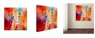 "Trademark Global Jai Johnson 'Jazzy Giraffe' Canvas Art - 35"" x 35"" x 2"""
