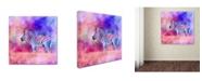 "Trademark Global Jai Johnson 'Jazzy Zebra Pink And Purple' Canvas Art - 18"" x 18"" x 2"""