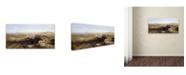 "Trademark Global David Roberts 'Edinburgh From The Castle' Canvas Art - 24"" x 12"" x 2"""
