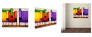"Trademark Global Daniel Patrick Kessler 'Rainbow Dogs' Canvas Art - 24"" x 18"" x 2"""