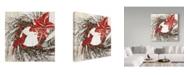 "Trademark Global Color Bakery 'Cardinal Christmas I' Canvas Art - 14"" x 14"" x 2"""