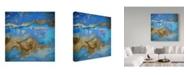 "Trademark Global Color Bakery 'Cobalt Sea' Canvas Art - 14"" x 14"" x 2"""