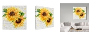 "Trademark Global Irina Trzaskos Studio 'Summertime Sunflowers I' Canvas Art - 18"" x 18"" x 2"""