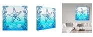 "Trademark Global Irina Trzaskos Studio 'Ocean I' Canvas Art - 14"" x 14"" x 2"""