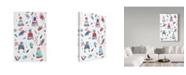 "Trademark Global Irina Trzaskos Studio 'Winter Hats' Canvas Art - 24"" x 16"" x 2"""