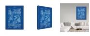 "Trademark Global Cole Borders 'Mechanics 2' Canvas Art - 32"" x 24"" x 2"""