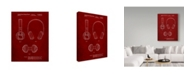 "Trademark Innovations Cole Borders 'Bluetooth Headphones' Canvas Art - 47"" x 35"" x 2"""