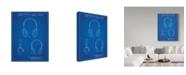 "Trademark Innovations Cole Borders 'Headphones 1' Canvas Art - 47"" x 35"" x 2"""