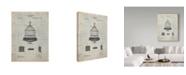 "Trademark Global Cole Borders 'Vintage Birdcage' Canvas Art - 47"" x 35"" x 2"""