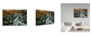 "Trademark Global D. Rusty Rust 'Cabin Autumn' Canvas Art - 24"" x 16"" x 2"""