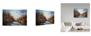 "Trademark Global D. Rusty Rust 'Welcome Home' Canvas Art - 24"" x 16"" x 2"""