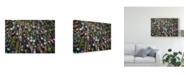 "Trademark Global Insan Kamil 'Pasar Terapung' Canvas Art - 19"" x 2"" x 12"""