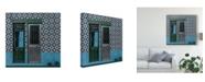 """Trademark Global Inge Schuster 'Blue Doors' Canvas Art - 24"""" x 2"""" x 24"""""""