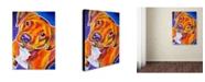 "Trademark Global DawgArt 'Harlem Crop' Canvas Art - 35"" x 47"" x 2"""