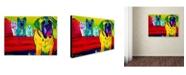 "Trademark Global DawgArt 'Drooler Get The Floor' Canvas Art - 35"" x 47"" x 2"""