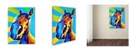 "Trademark Global DawgArt 'Chips' Canvas Art - 24"" x 32"" x 2"""