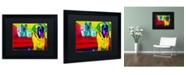 """Trademark Global DawgArt 'Drooler Get The Floor' Matted Framed Art - 20"""" x 16"""" x 0.5"""""""