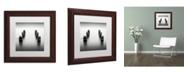 """Trademark Global Dave MacVicar 'Pillars' Matted Framed Art - 11"""" x 11"""" x 0.5"""""""