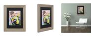 "Trademark Global Dean Russo 'Thouthful Pittbull II' Matted Framed Art - 14"" x 11"" x 0.5"""