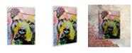 "Trademark Global Dean Russo 'Thoughtful Pitbull II' Floating Brushed Aluminum Art - 16"" x 22"" x 1"""