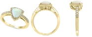 EFFY Collection EFFY® Opal (1-1/6 ct.t.w.) & Diamond (1/5 ct. t.w.) Ring in 14k Gold