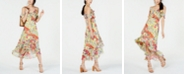 INC International Concepts I.N.C. Floral Cold-Shoulder Midi Dress, Created for Macy's