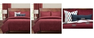 PoloGear Tumbleweed Crimson 6 Piece Queen Luxury Duvet Set