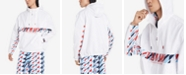 Tommy Hilfiger Men's Addison Geometric-Print Logo Hooded Windbreaker