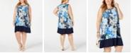 John Paul Richard Plus Size Sleeveless Printed Shift Dress