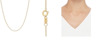 """Italian Gold Mirror Cable Link 16"""" Chain Necklace in 14k Gold"""
