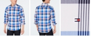 Tommy Hilfiger Men's Henderson Slim-Fit Stretch Performance Plaid Shirt