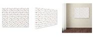 "Trademark Global Tammy Kushnir 'Feather Pattern' Canvas Art - 47"" x 35"" x 2"""