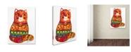 "Trademark Global Oxana Ziaka 'Judaica Folk Cat' Canvas Art - 24"" x 18"" x 2"""