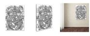 """Trademark Global Oxana Ziaka '2 Garden Cats 2' Canvas Art - 19"""" x 14"""" x 2"""""""