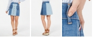 Tommy Hilfiger Patchwork Button Denim Skirt, Created for Macy's