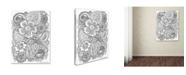 "Trademark Global Jessica Putnam 'Floral 48' Canvas Art - 32"" x 24"" x 2"""