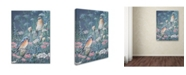 "Trademark Global Wanda Mumm 'Bluebird And Wildflowers' Canvas Art - 24"" x 18"" x 2"""