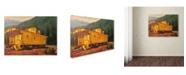 "Trademark Global Wanda Mumm 'Caboose' Canvas Art - 19"" x 14"" x 2"""